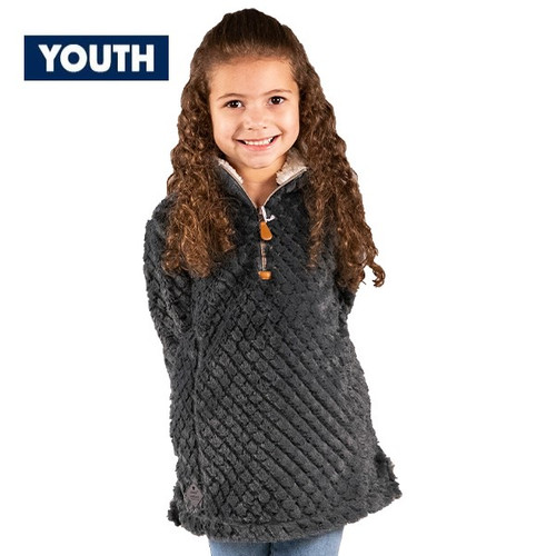 Youth Small Dark Gray Simply Fuzzy Pullover by Simply Southern