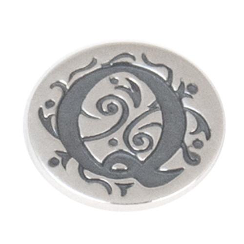 """Q"" Sterling Silver Alphabet JewelPop - KJP017Si Kameleon Jewelry {Legacy}"