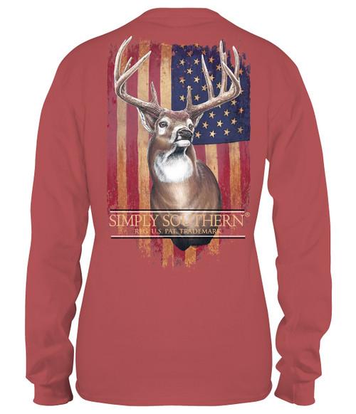 XXLarge Deer Spice Unisex Long Sleeve Tee by Simply Southern