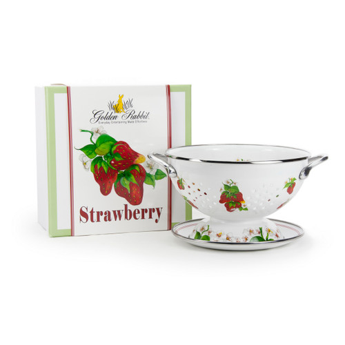 Strawberry Colander Gift Set by Golden Rabbit - Available November