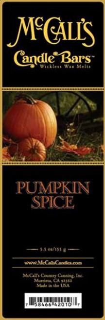 Pumpkin Spice McCall's Candle Bar