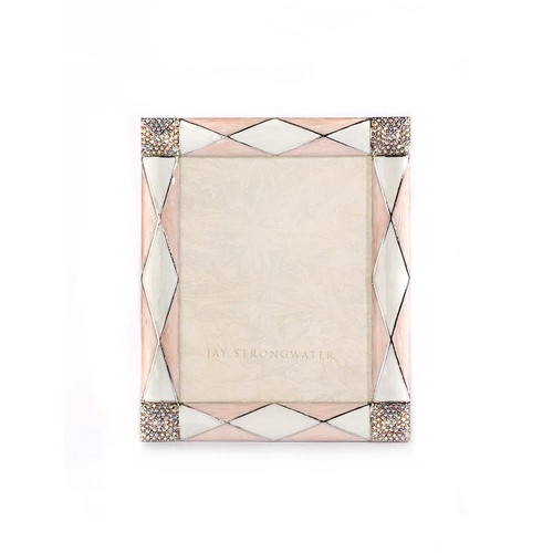 "Jay Strongwater Alex Argyle 3"" x 4"" Frame - Pink - Special Order"