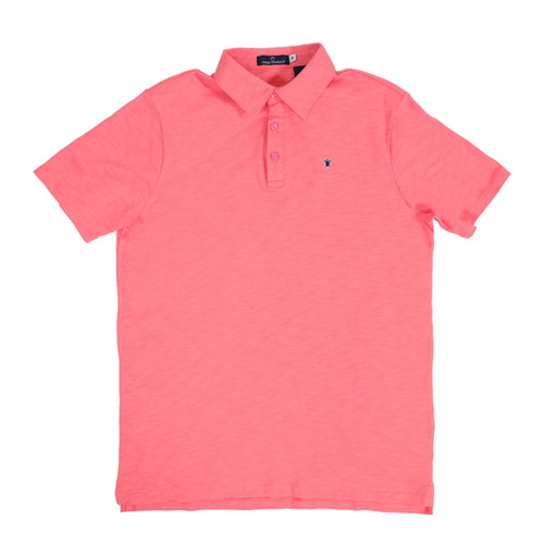 Large Coral Jack Ocean Washed Polo by Simply Southern