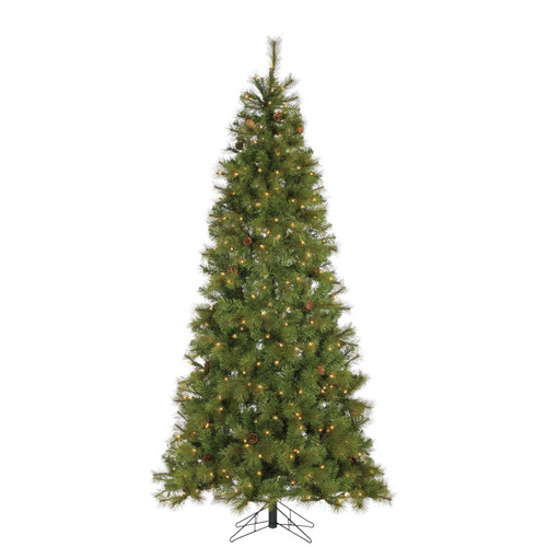 Hard / Mixed Needle 7.5 ft. Charleston with Pine Cones by Sterling Tree