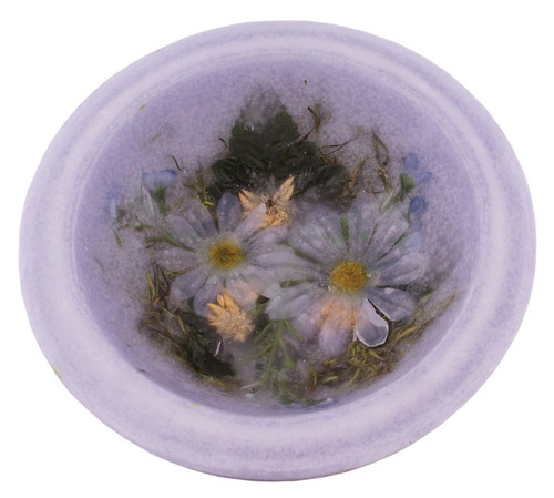 """Lavender Chamomile 7"""" Wax Pottery Vesselby Habersham Candle Co."""