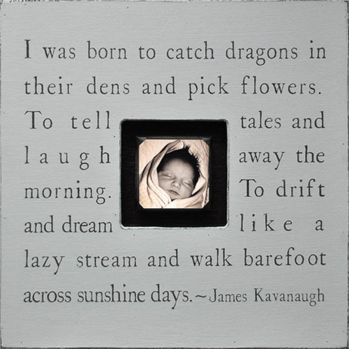 French Grey I Was Born To Catch Dragons Photobox by Sugarboo Designs - Special Order