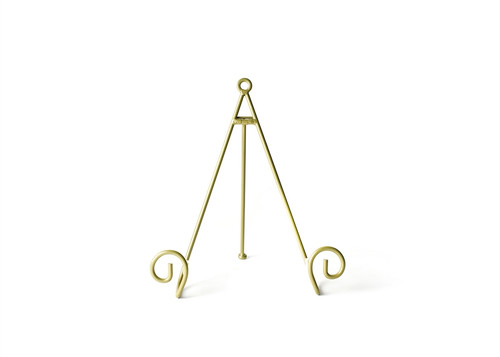 Gold  Large Swirl Plate Stand  by Happy Everything!