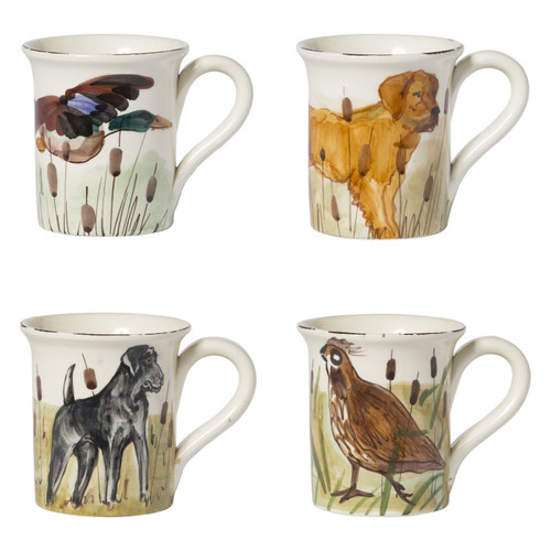 Vietri Wildlife Assorted Mugs - Set of 4 - Special Order