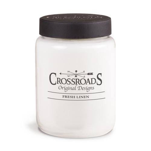 Fresh Linen 26 oz. Crossroads Candle