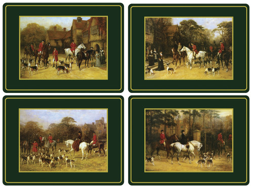 Set of 4 Tally Ho Placemats (Assorted) by Pimpernel - Special Order