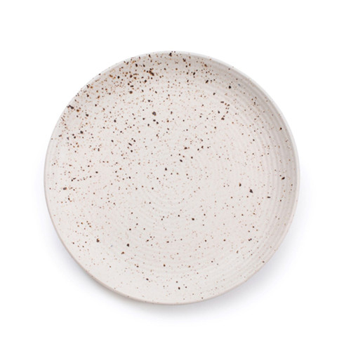"""9"""" Small Ribbed Ceramic Speckled Plate by Sugarboo Designs - Special Order"""