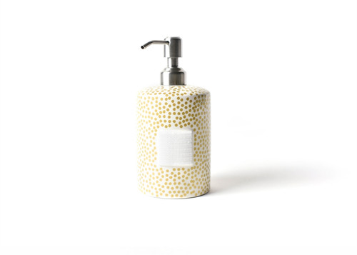 Gold Small Dot Mini Cylinder Soap Pump by Happy Everything!