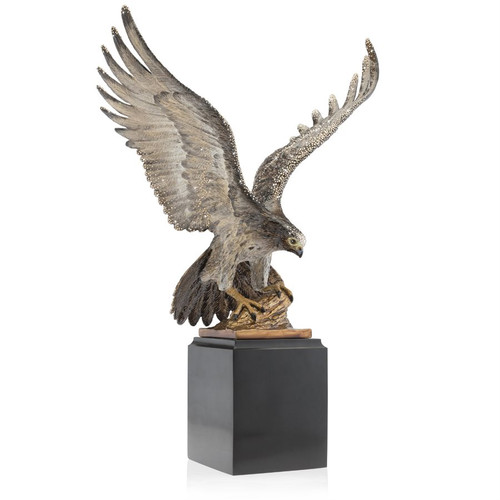 Jay Strongwater Baldwin Falcon Figurine - Special Order