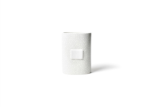 Stone Small Dot Mini Oval Vase by Happy Everything!