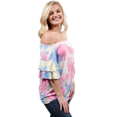Small Tiedye Sass Top by Simply Southern