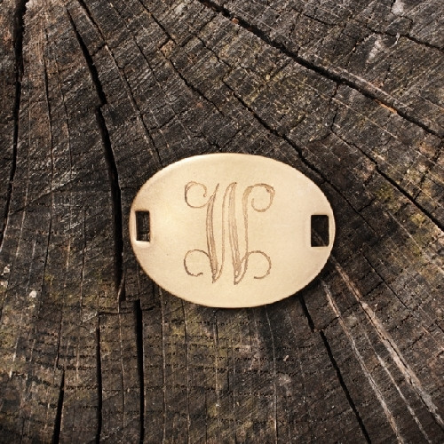 """Laiton """"W"""" Monogram Charm by Beaucoup Designs"""