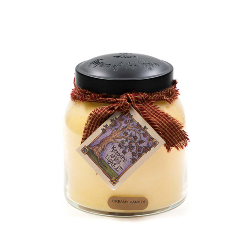 Creamy Vanilla 34 oz. Papa Jar Keeper's of the Light Candle by A Cheerful Giver
