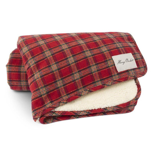 One Size  Plaid Sherpa Dog Blanketby Harry Barker - Special Order