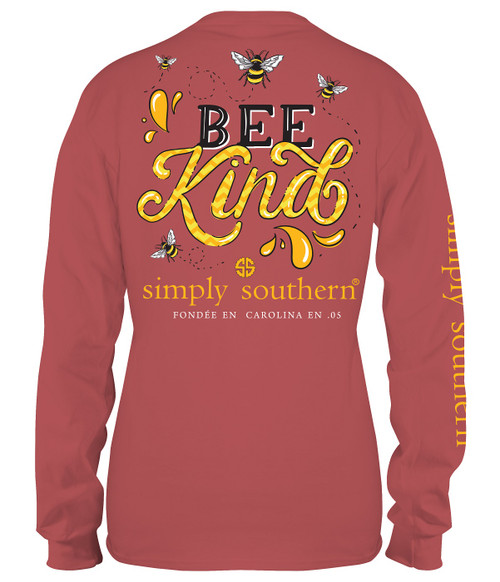 XXLarge Bee Kind Spice Long Sleeve Tee by Simply Southern
