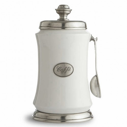 Tuscan Coffee Canister with Spoon - Arte Italica