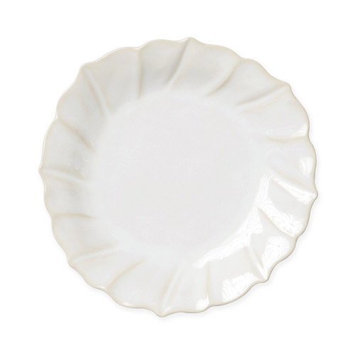 Vietri Incanto Stone Linen Ruffle Salad Plate