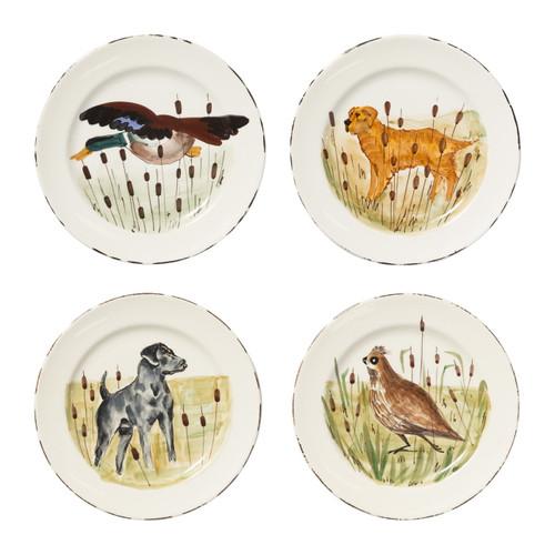 Vietri Wildlife Assorted Dinner Plates - Set of 4 - Special Order