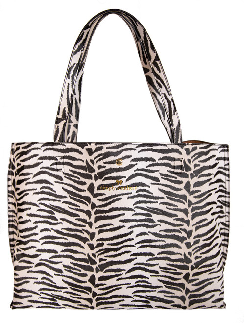Zebra Leather Tote by Simply Southern