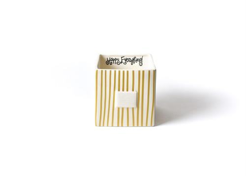 Gold Stripe Mini Nesting Cube Medium by Happy Everything!