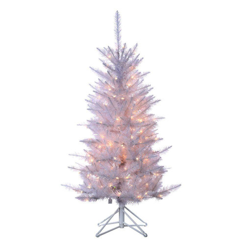 White Tiffany 4 ft. Tinsel Tree by Sterling Tree