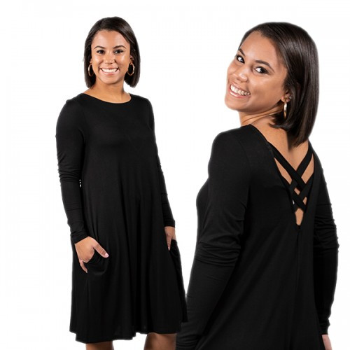 Small Black Cross Back Dress by Simply Southern