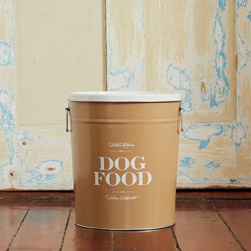 Small  Taupe Bon Chien Dog Food Storage Canisterby Harry Barker - Special Order