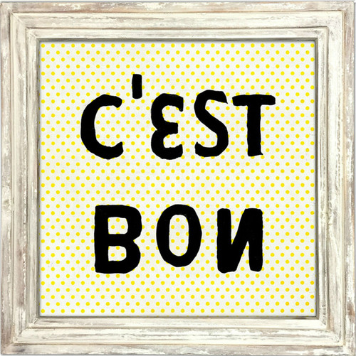 """36"""" x 36"""" C'est Bon Art Print With White Wash Frame by Sugarboo Designs - Special Order"""