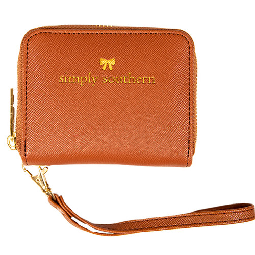 Honey Leather Coinwallet by Simply Southern