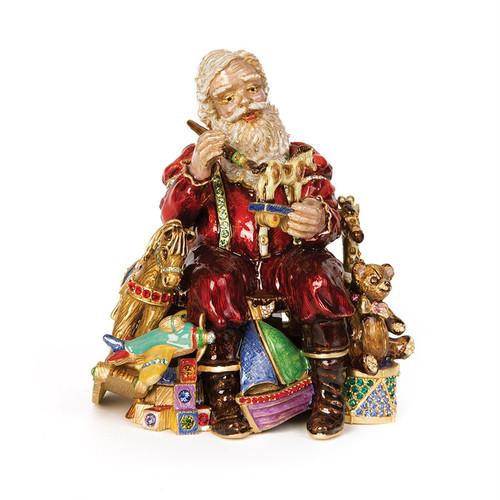 Jay Strongwater Santa's Musical Workshop Figurine - Special Order