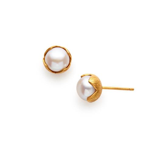 Julie Vos Penelope Earring -Pearl 1
