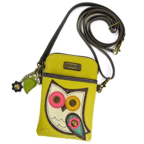 Mustard Owl-II Cell Phone Crossbody