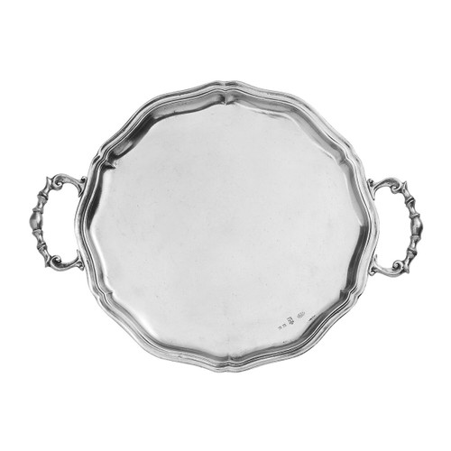 Vintage Scalloped Tray with Handles - Arte Italica
