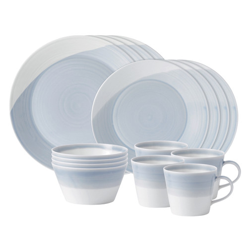 1815 Blue 16-Piece Set by Royal Doulton - Special Order