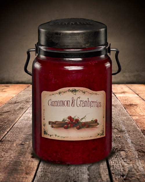 Cinnamon & Cranberries 26 oz. McCall's Classic Jar Candle