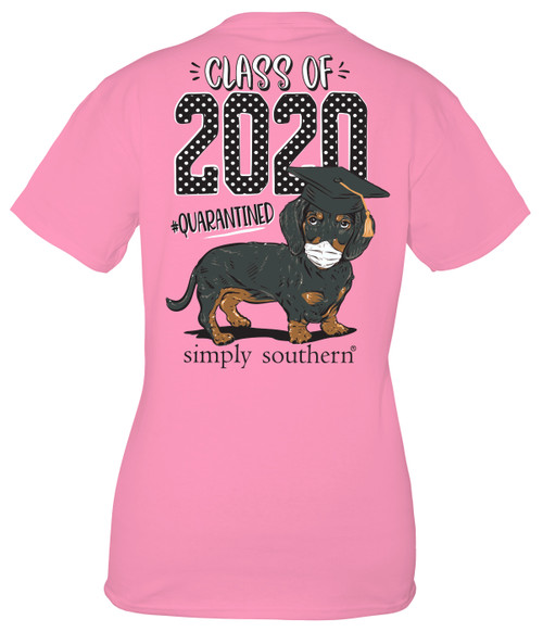 Medium Class of 2020 Flamingo Short Sleeve Tee by Simply Southern