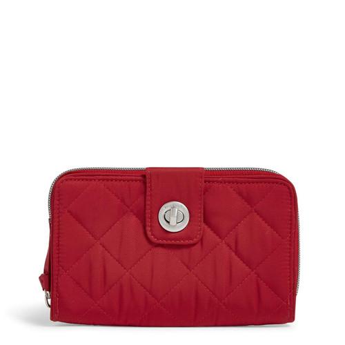 RFID Turnlock Wallet Performance Twill Cardinal Red by Vera Bradley