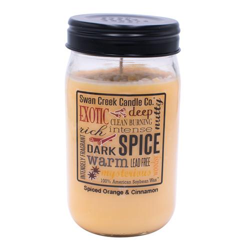 Spiced Orange & Cinnamon 24 oz. Swan Creek Kitchen Pantry Jar Candle