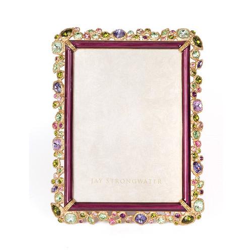 "Jay Strongwater Leslie Bejeweled 5"" x 7"" Frame - Special Order"