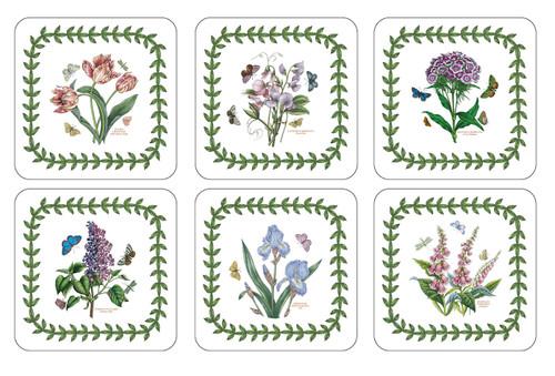 Set of 6 Botanic Garden Coasters (Assorted Motifs) by Pimpernel - Special Order