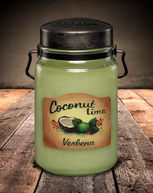 Coconut Lime Verbena 26 oz. McCall's Classic Jar Candle