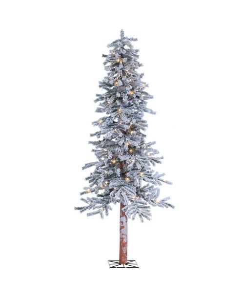 Pre-Lit Flocked 6 ft. Alpine Tree by Sterling Tree