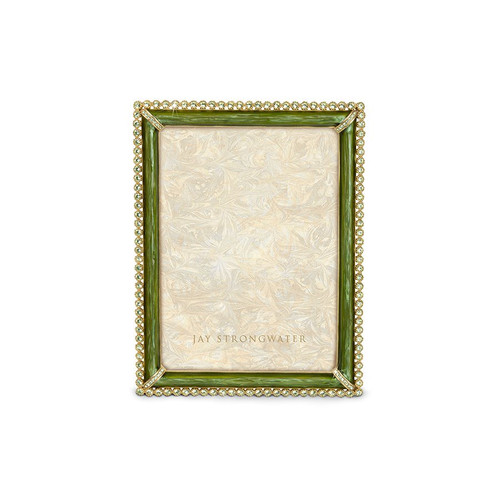 """Jay Strongwater Lucas Stone Edge 5"""" x 7"""" Frame - Green - Special Order"""