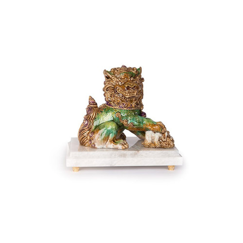 Jay Strongwater Yin Foo Dog Figurine - Special Order