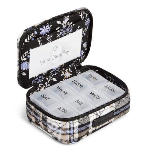 Travel Pill Case Cozy Plaid Neutral by Vera Bradley