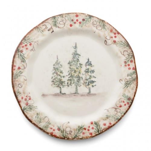 Natale Salad/Dessert Plate - Arte Italica